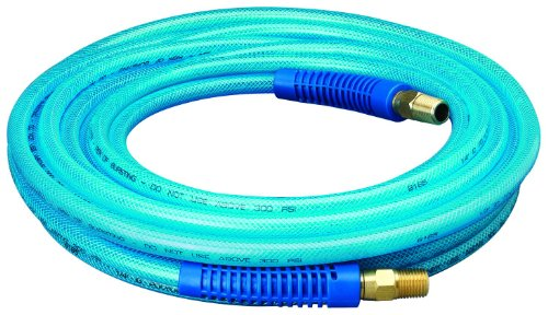 Amflo 12-25E Non-Marring, 1/4″ X 25′ Polyurethane Air Hose is Lightweight for Easy Carrying and Stays Flexible in Cold Weather – Great for Indoor or Outdoor Projects Like Roofing & Interior Remodeling