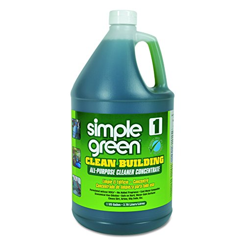 Simple Green Industrial SMP11001 Clean Building All-Purpose Cleaner Concentrate, 1gal Bottle