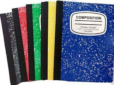 Marbled Composition Notebooks 100 Sheets 5color-5pack